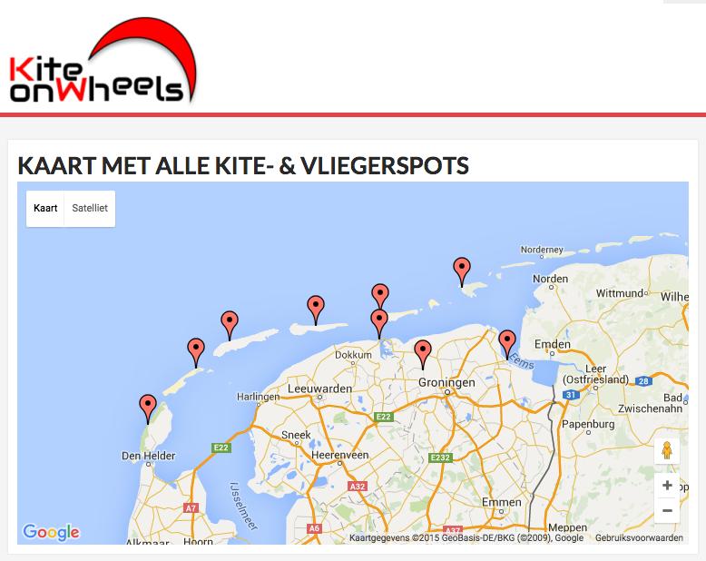 Bekijk hier alle kite- & vliegerspots